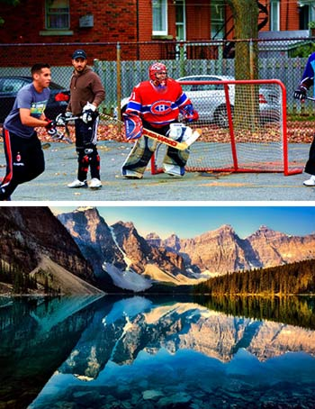 Montreal Street Hockey Mountain Range Lake