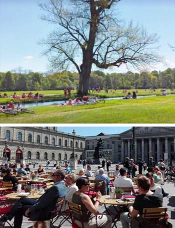 MegaZebra Munich City Englischer Garten Opern Platz