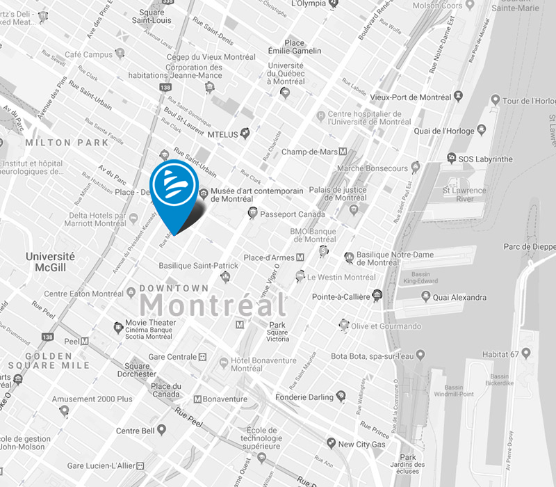 Find us in Montreal